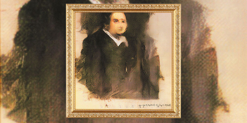 Portrait of Edmond Belamy, a painting made by AI