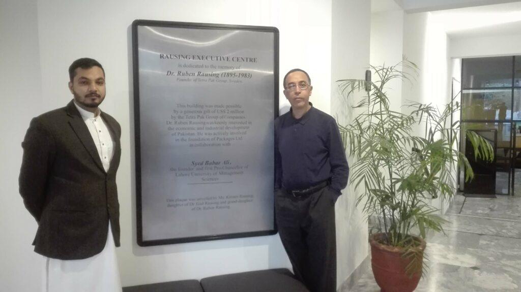 Abdullah Khan and Dr. Nidhal at LUMS, Pakistan