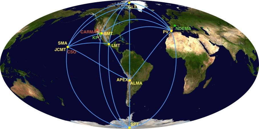 A map of the Event Horizon Telescope
