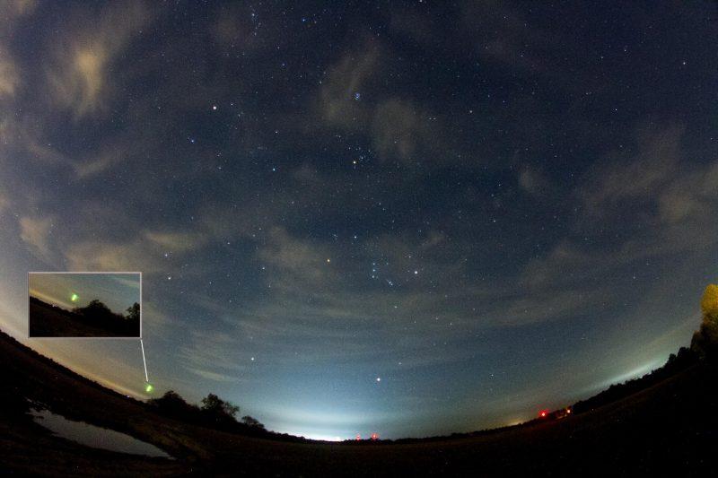 Alpha Monocerotids shining through the sky