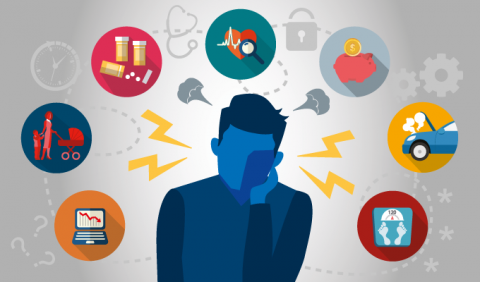 Several risk factors for mental health that may be present in the working environment are lack of communication with co-workers, physical capability and daily functioning, etc.